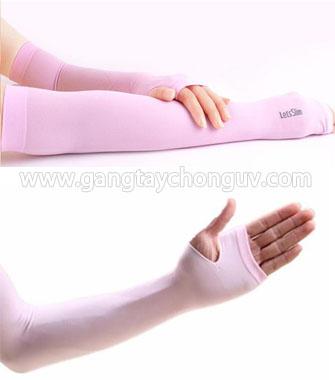 Găng tay chống nắng UV Let's Slim Hàn Quốc màu hồng