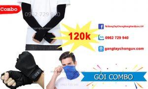 Combo găng tay chống nắng khăn phượt