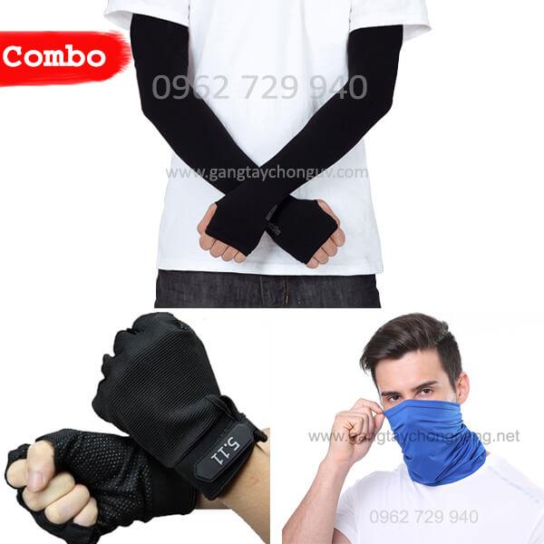 Combo khuyến mãi găng tay chống nắng Hàn Quốc Let's Slim