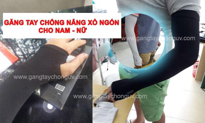 Găng tay chống nắng xỏ ngón cho nam nữ - địa chỉ bán uy tín tại Hà Nội và HCM